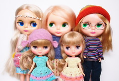 Blondes (Tales of Karen) Tags: doll pretty melanie prototype blonde mysterious kenner blythe paisley 1972 takara adg bl vinatge ubique middie