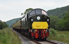 Class 40 No.D213 'Andania' approaching Levisham Station [NYMR] (soberhill) Tags: diesel gala pickering levisham grosmont nymr 2016 northyorkshiremoorsrailway class40 d213 andania