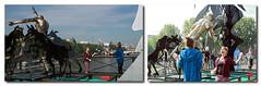Les jongleurs du Pont des Arts (mamnic47 - Over 6 millions views.Thks!) Tags: paris sculptures jongleurs pontdesarts passerelledesarts laseine danielhourd lapasserelleenchante img0900m