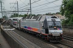 Bay Head Bound (Nick Gagliardi) Tags: train trains railroad amtrak acs64 nj njt new jersey transit arrow iii mu alp46 alp45dp