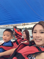 2016.6.22  Sailing Boat (amydon531) Tags: trip travel family justin baby cute beach boys kids sisters island boat toddler sailing brothers philippines boracay jarvis bffs