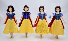 2013-2016 Classic Snow White Dolls Compared - Disney Store Purchases - Full Front View (drj1828) Tags: disneystore doll 12inch classicprincessdollcollection 2016 purchase snowwhite snowwhiteandthesevendwarfs deboxed standing 2013 2014 2015 comparison sidebyside review