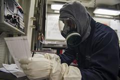 160615-N-EO381-037 (CNE CNA C6F) Tags: pier norfolk navy destroyer atlanticocean biological deployment mediterraneansea chemical heave gasmasks mc3 cvw3 cvn69 radiological mooringlines ussroosevelt it1 ussdwightdeisenhower militarysealiftcommand ussnitze ddg80 ussmonterey cg61 cg56 ddg55 carrierairwing3 forwarddeployed ussmason ddg87 ussstout arleighburkeclassguidedmissiledestroyer 5thfleet eisenhowercarrierstrikegroup ddg94 desron26 mh60rseahawk 6thfleet destroyersquadron26 masscommunicationspecialist3rdclass hsm74 ikecsg carrierstrikegroup10 caseyjhopkins cmdrpaulkaylor usssanjacento helicoptermaritimestrikesquadron74 informationtechnician1stclass djemileeguirand