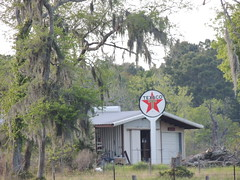 Sign With the Red Star (maorlando - God keeps me as I lean on Him!!) Tags: trees sign rural texas spanishmoss texaco