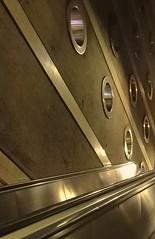 Main courante (maggy le saux) Tags: architecture stairs metro circles abstraction transports escalier lignes líneas rampe círculos cercles escalierroulant artabstrait