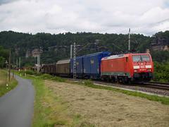 DB Cargo 189 002 (jvr440) Tags: railroad train db cargo locomotive railways trein spoorwegen rathen kurort br189 locomtief es64f4