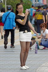 Black and White Outfit 1 (booster_again) Tags: miniskirt tights pantyhose