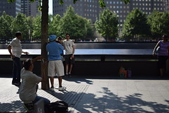 Narcissistic (Amelia Cacchione) Tags: 911 memorial new york city september 11 pool fountain people world trade center freedom tower nyc tourist