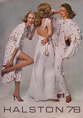 Halston 1978 (moogirl2) Tags: vintage retro vogue 70s 1978 70sstyle vintageads halston 70sfashions vintagvogue halston78