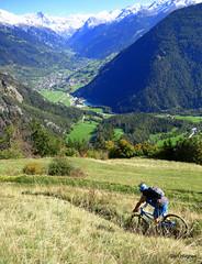 Autumn Riding around Verbier  (88) (Carl and Sian) Tags: orange alps switzerland mtb mountainbiking verbier singletrack orangefive bikeverbier alpinesingletrack carlandsian