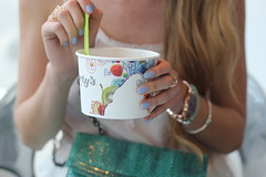 yogurtys queen west froyo (Natalie Ast) Tags: toronto west green car fashion vintage shopping this graffiti frozen is blog downtown paradise purple district mint style skirt blogger canadian queen purse clutch accessories yogurt zara snakeskin froyo yogurtys