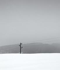 Snow everywhere II (elkarrde) Tags: winter blackandwhite snow digital landscape blackwhite noiretblanc pentax hills powerlines 1750 minimalism tamron minimalistic twop a16 2013 k20d justpentax tamronaf1750mmf28spxrdiiildasphericalif pentaxk20d pentaxart winter2013