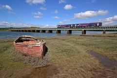 Time And Tide (Feversham Media) Tags: cumbria copeland northernrail westcumbria newbiggin eskmeals eskestuary dieselmultipleunits cumbriacoastline eskmealsviaduct class153dmus supersprinterdmus
