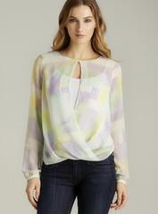Jaye.E. Printed Drape Blouse (fashionloko.com) Tags: women shirts tops blouses womentopsblousesshirts