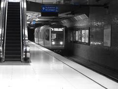 Van Ness Station (sftrajan) Tags: muni metro subway sanfrancisco vannessstation sonydsch90 extractedcolor munimetro architecture masstransit reidandtaricsassociates reidtarics johnlyonreid sandortarics 1970s alexandergtarics