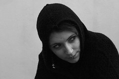 gpoy cold edition (yiyo-chan) Tags: portrait blackandwhite selfportrait hoodie bodymod piercings