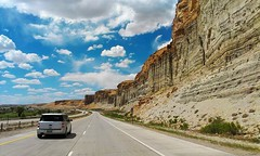 I-80 Westbound along Green River, WY (youtube.com/utahactor) Tags: road trip mountains beautiful spectacular contest cliffs wyoming i80 mesa bluff facebook roadtripwy