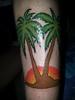 Palm Tree Sunset Tattoo (Hqr Syd) Tags: tattoo legtattoo treetattoo suntattoo palmtreetattoo sunsettattoo malibutattoo