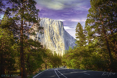 The Road to El Capitan (Kris Kros) Tags: california ca photoshop yosemite captain kris elcapitan hdr kkg thecaptain photomatix kros kriskros hdrunleashed