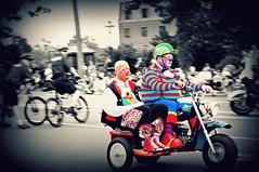 Selective Shenanigans! (FlipMode79) Tags: happy funny candid sony streetphotography parade va dcist fairfax clowns independenceday picnik shenanigans postprocessing hss nex selectivecoloring 4thofjulycelebration flipmode79 nex5n exposeddc