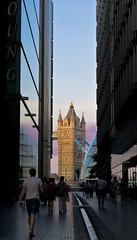 in betweener tower bridge (riverain_5) Tags: sunset england people building london towerbridge borders flickrandroidapp:filter=none