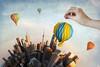Sunset Ori-balloon Ride Over Toy-ronto Planet
