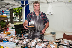 Saturday July 20th Brighton & Hove Mayor visits BHFDF Farmers Market on Old Steine, Brighton, East Sussex, UK