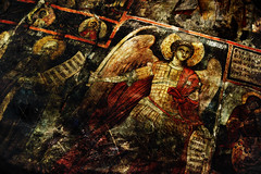 Hagiography (Nikos Niotis) Tags: old art history church angel work religious wings europe artistic traditional religion saints medieval christian holy monastery historical christianity balkans albanian albania stories orthodox archangel symbolic hagiography lushnje ardenica lushnja blinkagain