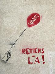 Stencil [Die, Drme, France] (biphop) Tags: streetart france wall stencil europe die libert mur pochoir drme retiens