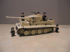 Lego Tiger I (Early Production) 504th Battalion, Tunisia 1943 (With Full 5 Man Panzer Crew) (Shockblast1) Tags: tank lego tunisia tiger wwii panzer brickarms brickforge legotank amazingarmory brickizimo