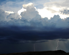 Lightning over St George Washington area august 30 2013 (houstonryan) Tags: blue storm st electric clouds utah george washington ryan over large houston august monsoon area bolt electricity daytime thunderstorm lightning thunderhead 2013 thundertstorm houstonryan