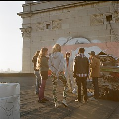 (Natalia Shlyakhovaya) Tags: roof light summer sun graffiti video russia moscow clip making