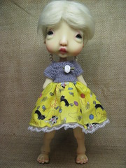 New kitty dress (lovetherain-gina) Tags: ball doll dress wig mohair bjd kane humpty jointed nefer lovetherain