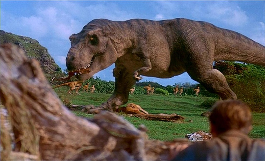 Image result for gallimimus vs t rex