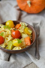 pasta with tomato and pumpkin (Zoryanchik) Tags: food dinner tomato pumpkin lunch cuisine healthy italian traditional plate vegetable pasta gourmet homemade meal vegetarian