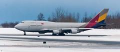 Asiana 747 Freighter taxiing into position to take off (Alaskan Dude) Tags: alaska aviation airplanes anchorage planespotting tedstevensanchorageinternationalairport
