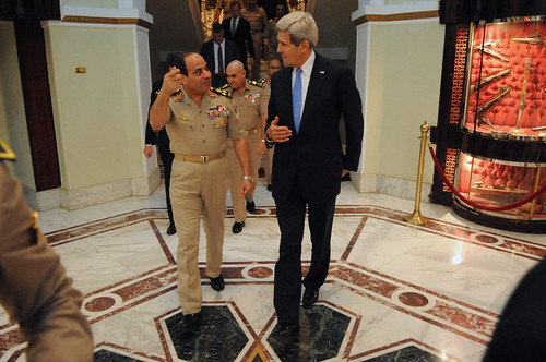 From flickr.com: Secretary Kerry Bids Farewell to Egyptian Defense Minister General al-Sisi {MID-174960}