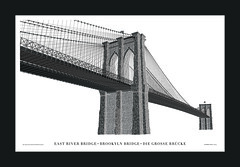 Brooklyn Bridge in Letterpress Type (Cameron Moll) Tags: typography letterpress typedesigning