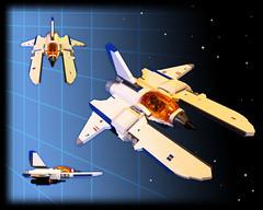 Vic Viper (Buster) Tags: lego space swoosh konami moc starfighter gradius vicviper novvember2013