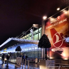 Christmassy Zaventem - feels like snow tonight... (antwerpenR) Tags: travel brussels airport europe belgium photostream zaventem 5photosaday a zzunsorted iphone4sbackcamera428mmf24