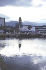 Belfast - East Bank: across Lagan near weir