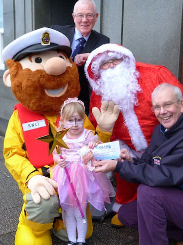 Emily Pagan with Santa Oban RNLI