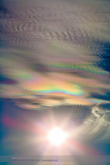 Iridescent Clouds at White Sands #1 (Amazing Sky Photography) Tags: sun canada newmexico refraction whitesandsnationalmonument atmosphericphenomena iridescentclouds