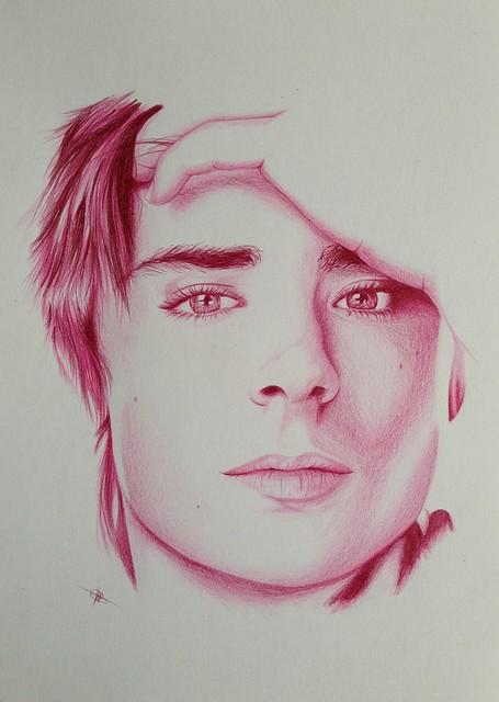 Portrait Zac Efron A4
