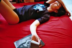 Sako (romuleald) Tags: film girl panties analog 35mm polaroid lomography legs iso400 olympus thighs 400 zuiko argentique sako highsocks sashagrey nationphoto sabrinasako