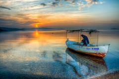 Yeni Sakran, Izmir (Nejdet Duzen) Tags: trip travel sunset sea sun reflection beach turkey fisherman trkiye deniz gnbatm gne yansma turkei seyahat plaj balk ilobsterit izmiryeniakran