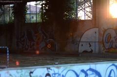 Sunbeam (ManieroRiccardo) Tags: park street sun art graffiti place rusty beam writers theme lonely forsaken murales sunbeam abbandoned