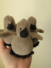 Tiny Babies! (The Craggy Moor) Tags: baby bird art children toys grey penguin stuffed doll soft babies handmade sewing craft softie cotton collectible babypenguin unjointed