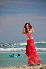Oh No... (Ctuna8162) Tags: ocean woman sun beach hawaii waikiki oahu bikini honolulu