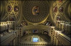 19/2014 - Chiesa Parrocchiale di San Giovanni Battista................Barge (CN) (celestino2011) Tags: tokina chiesa affreschi barge hdr 1224 soffitto